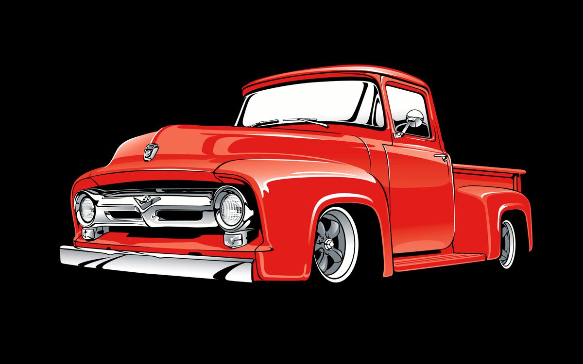 1953 To 1955 Ford F 100 Trucks Raingear Wiper Systems