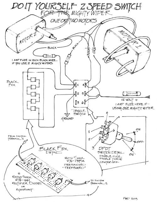 Two Speed Wiper Motor Wire Diagram For